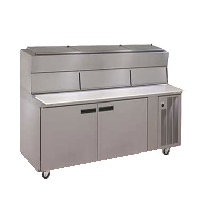 "Delfield 18672PDL 72"" Pizza Prep Table w/ Refrigerated Base, 115v"