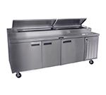"Delfield 18691PTBM 91"" Pizza Prep Table w/ Refrigerated Base, 115v"