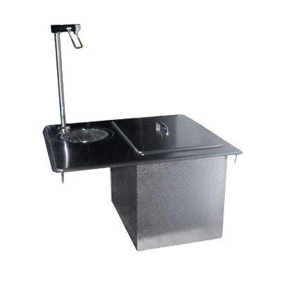 """Delfield 204P 45-lb Drop-In Ice Bin & Water Unit - 21"""" x 17.75"""", Stainless"""