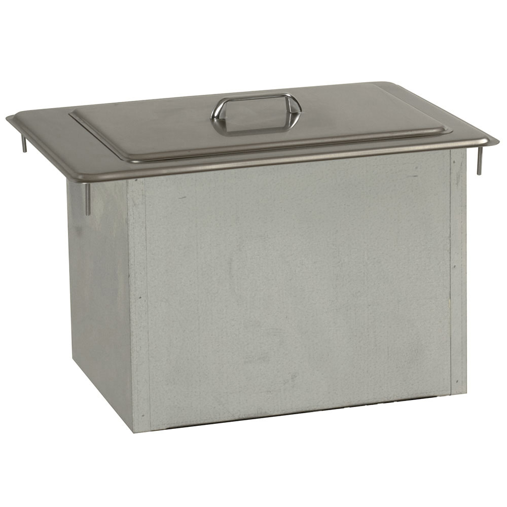 Delfield 305 45-lb Drop-In Ice Bin Chest w/ Cover, 21.25 x 15.25 x 13-in
