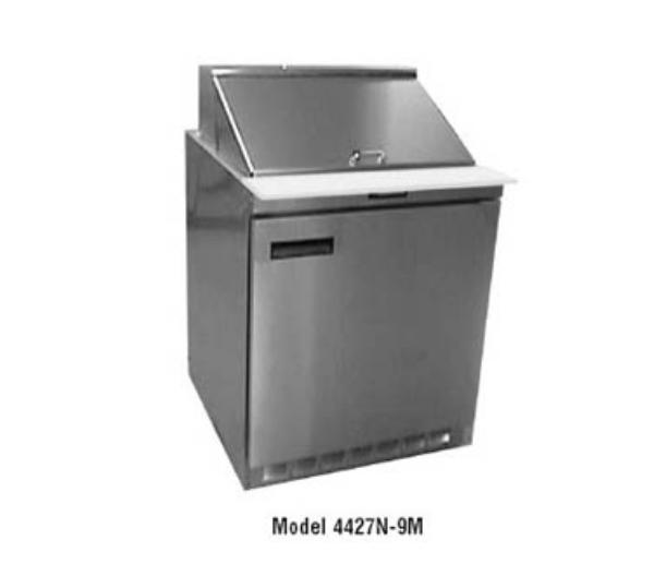 "Delfield 4427N-9M 27"" Sandwich/Salad Prep Table w/ Refrigerated Base, 115v"