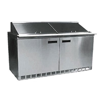 "Delfield 4464N-16 64"" Sandwich/Salad Prep Table w/ Refrigerated Base, 115v"