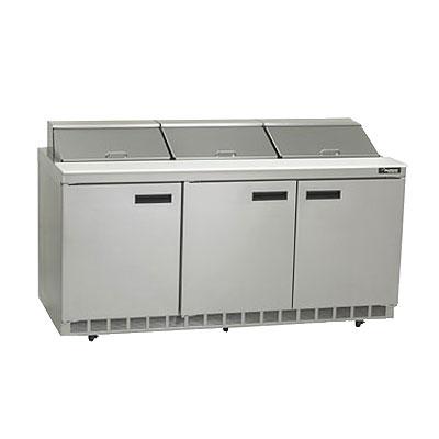 "Delfield 4472N-18 72"" Sandwich/Salad Prep Table w/ Refrigerated Base, 115v"