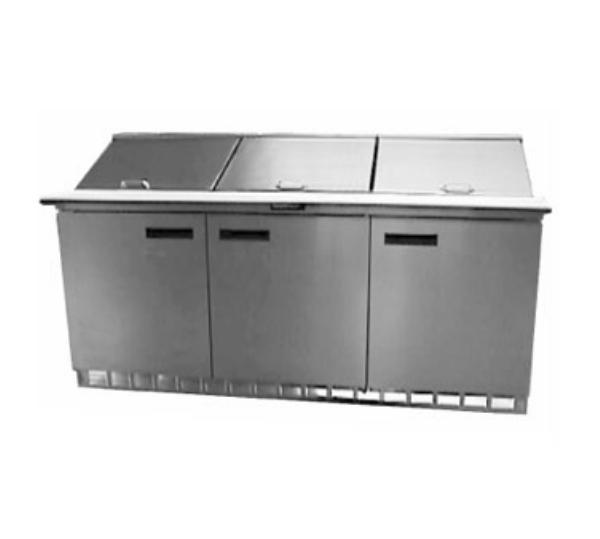 "Delfield 4472N-30M 72"" Sandwich/Salad Prep Table w/ Refrigerated Base, 115v"