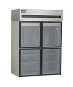 Delfield 6051XL-GH Reach In Refrigerator, 2 Section/Half Glass Doors, 43.5 Cu Ft