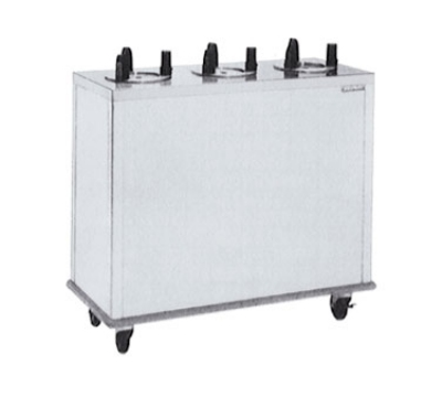 Delfield CAB3-1013ET Enclosed Heated Plate Dispenser w/ 3 Self-Elevating Tubes, 10.12-in Diameter