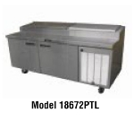 "Delfield 18672PTL 72"" Pizza Prep Table w/ Refrigerated Base, 115v"