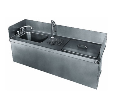 Delfield 250 Undercounter Sink w/ 45-lb Ice Chest & Water Station