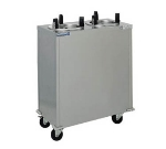 "Delfield CAB2-725ET 120 7.25"" Heated Mobile Plate Dispenser w/ 2-Self-Elevating Tubes, 120 V"