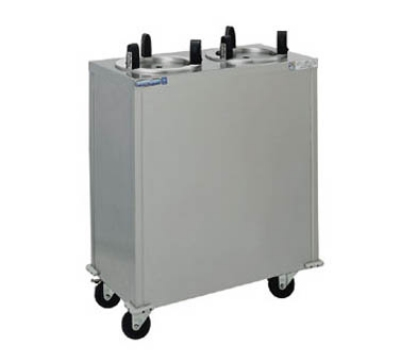 "Delfield CAB2-1013QT 120 10.12"" Enclosed Mobile Heated Dish Dispenser w/ 2-Stack, 120 V"