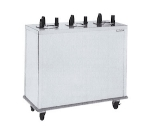 "Delfield CAB3-725 7.25"" Enclosed Mobile Plate Dispenser w/ 3-Self-Elevating Tubes, Stainless"