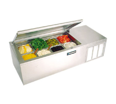 Delfield CTP 8146-NB 1151 Refrigerated Condiment Rail Holds (4) Third-Size Pans, 115v