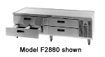 "Delfield F2856 56"" Chef Base w/ (2) Drawers - 115v"