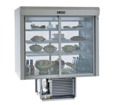 "Delfield F5MC48D 48"" Countertop Refrigerator w/ Front Access - Sliding Door, Stainless, 115v"