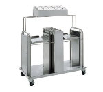 "Delfield FT2-SN-1622SS Open Dual Self-Elevating Tray Dispenser for 16 x 22"" Trays, Stainless"