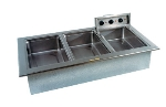 "Delfield N8768ND Narrow Drop-In Hot Food Well w/ Drain, (3) 12 x 20"" Pan, Wet Or Dry"