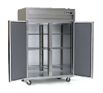 Delfield SSH2N-SH 2-Section Narrow Reach-In Hot Food Cabinet w/ Half Solid Door, 43.94-cu ft