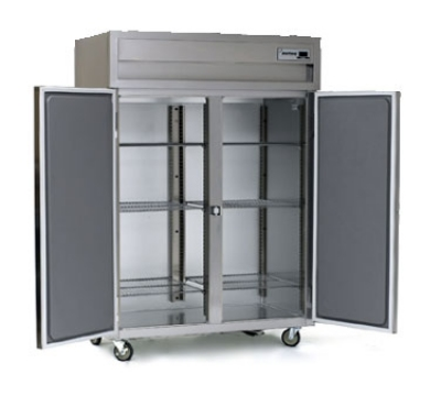 Delfield SAH2N-S Double Reach-In Hot Food Cabinet w/ Full Solid, 43.92-cu ft, 120-208/230V