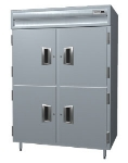 Delfield SAH2N-SH Double Reach-In Hot Food Cabinet w/ Half Solid, 43.92-cu ft, 120-208/230V
