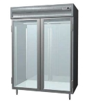 "Delfield SARPT2-GS 56"" Two Section Pass-Thru Refrigerator, (2) Glass Door, 115v"