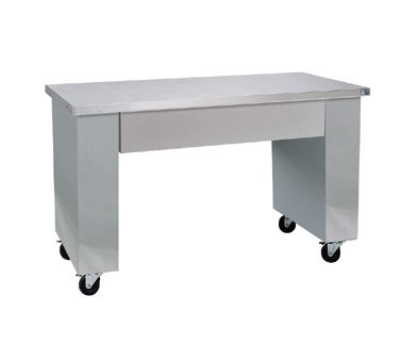 Delfield SCN-48 48-in Open Base All Purpose Counter w/ Apron, Casters, Stainless