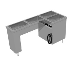 Delfield SLT4 Heated Tray Serving Counter w/ (4) 12 x 20-in Food