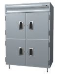 Delfield SSH2-SH 2-Section Reach-In Hot Food Cabinet w/ Half Solid Door, 51.92-cu ft