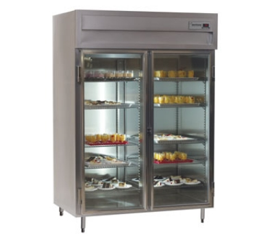 Delfield SSH2-GH 2-Section Hot Food Cabinet w/ Half Glass Door, 51.92-cu ft, Stainless