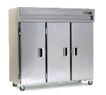 Delfield SSH3-S 3-Section Reach-In Hot Food Cabinet w/ Full Solid Door, 78.89-cu ft