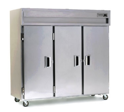 Delfield SAH3-S 3-Section Reach-In Hot Food Cabinet w/ Full Solid, 78.89-cu ft, 120/208-230V