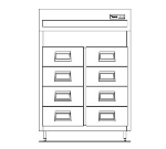 "Delfield SSRFF1-S 29"" Single Section Reach-In Fish Refrigerator, (4) Drawers, 115v"