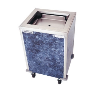 Delfield T-1422 Enclosed Mobile Tray Dispenser w/ Self-Leveling Platform, For 14 x 22-in