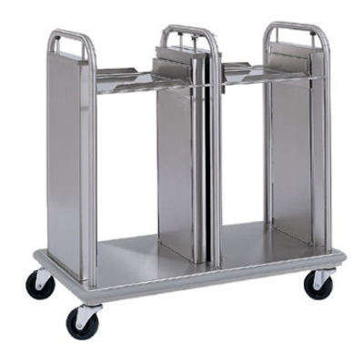 Delfield TT2-2020 Dual Open Frame Tray Dispenser w/ Self-Elevating for 20 x 21""