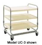 Delfield UC-3 3-Level Fiberglass Utility Cart w/ 600-lb Capacity, Raised Ledges