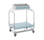 Delfield UTS-1 Tray & Silver Cart w/ 10-Hole Silverware Bin & Cylinders, 1-Shelf