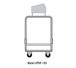 Delfield UTSP-2 Tray & Silver Cart w/ 4-Pan Silverware Bin, 2-Fiberglass Shelves