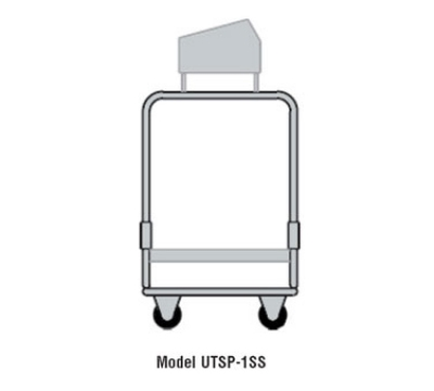 Delfield UTSP-1 Tray & Silver Cart w/ 4-Pan Silverware Bin, 1-Fiberglass Shelf