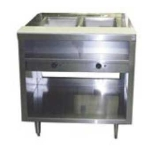 Delfield EHEI36L 36-in Hot Food Table w/ 2-Wells & Poly Cutting Board, Legs
