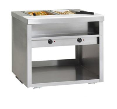 Delfield EHEI60L 60-in Hot Food Table w/ 4-Wells & Poly Cutting Board, Legs