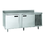 Delfield F18FC78 78-in Freezer Work Table, 2-Section, Stainless