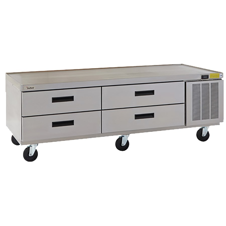 "Delfield F2973CP 73"" Chef Base w/ (4) Drawers - 115v"