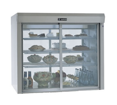 "Delfield F5PR48N 48"" Countertop Refrigerator w/ Pass Thru Access - Sliding Door, Stainless, 115v"
