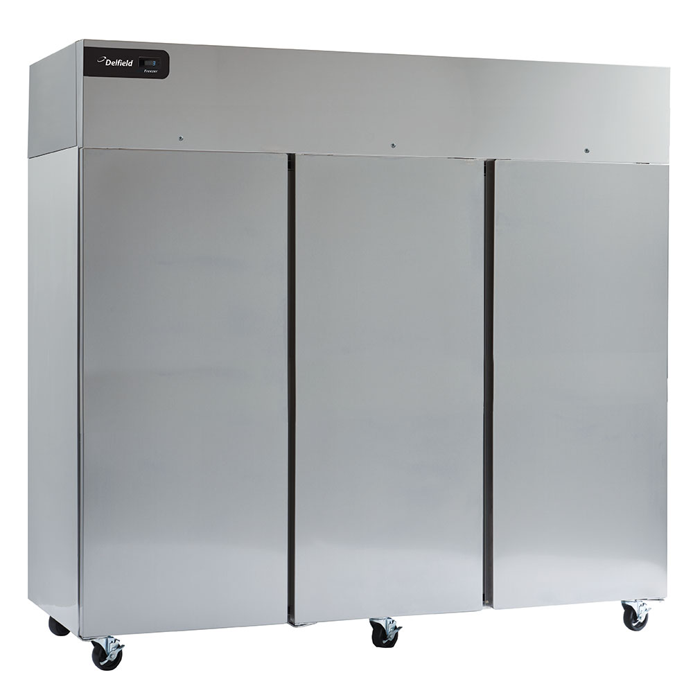 "Delfield GBF3P-S 83"" Three Section Reach-In Freezer, (3) Solid Doors, 115v"