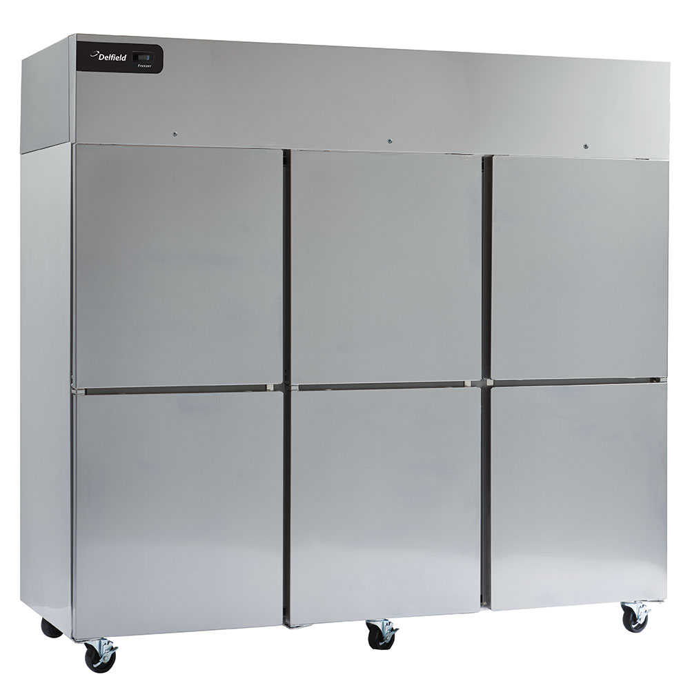 "Delfield GBF3P-SH 83"" Three Section Reach-In Freezer, (6) Solid Doors, 115v"