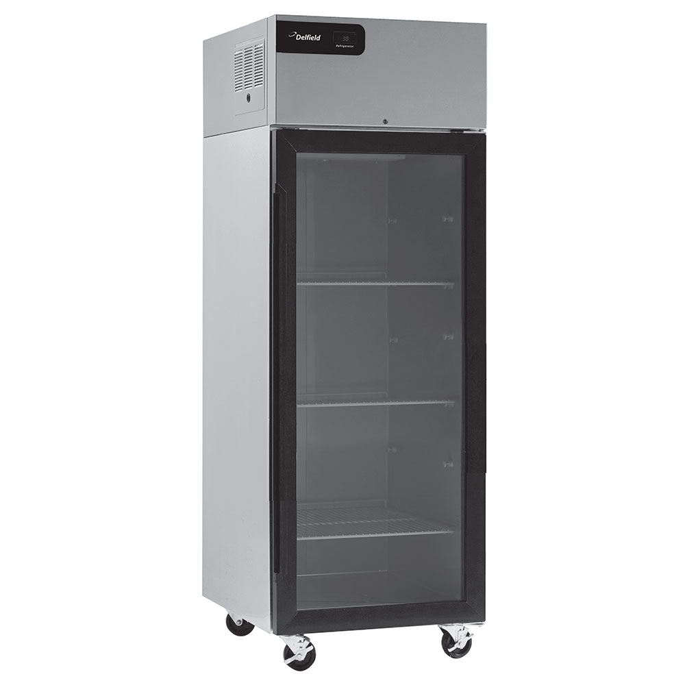 "Delfield GBR1P-G 27.4"" Single Section Reach-In Refrigerator, (1) Glass Doors, 115v"