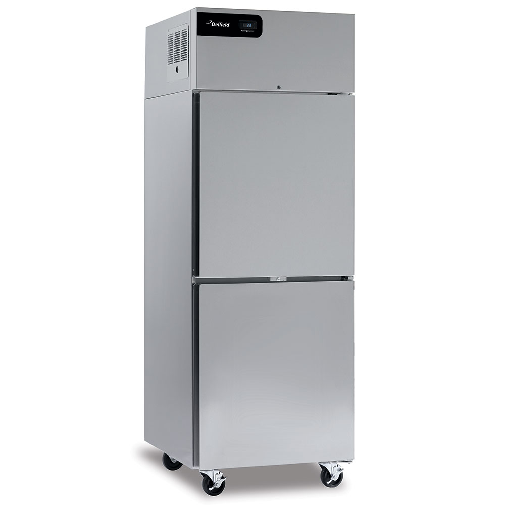 """Delfield GBR2P-SH 55.2"""" Two Section Reach-In Refrigerator, (4) Solid Doors, 115v"""