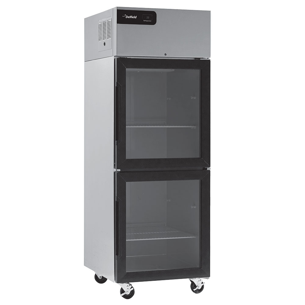 """Delfield GBSR2P-GH 55.2"""" Two Section Reach-In Refrigerator, (4) Glass Doors, 115v"""