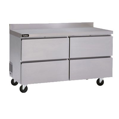 Delfield GUF60BP-D 11.7-cu ft Worktop Freezer w/ (2) Sections & (4) Drawers, 115v