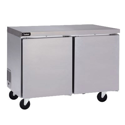 Delfield GUF60P-S 11.7-cu ft Undercounter Freezer w/ (2) Sections & (2) Doors, 115v