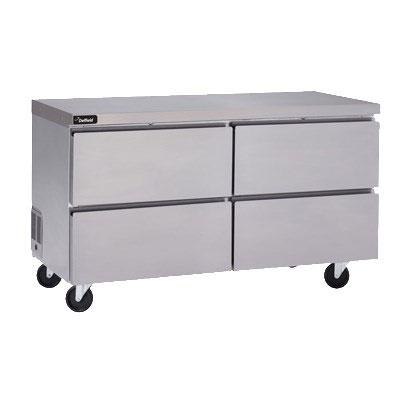 "Delfield GUR32P-D 32"" Worktop Refrigerator w/ (1) Section & (2) Drawers, 115v"